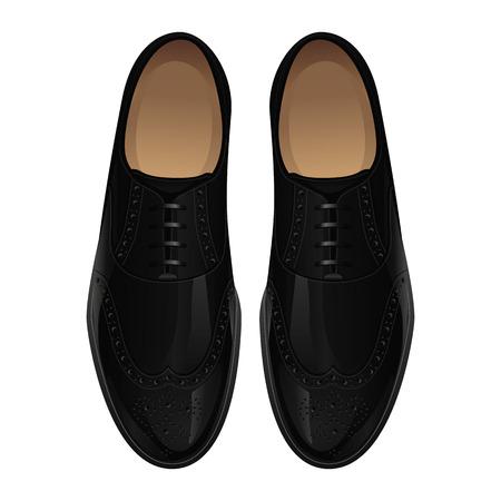 클래식 흑인 남성의 신발 일러스트