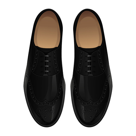 Classic black men's shoes Stock Illustratie