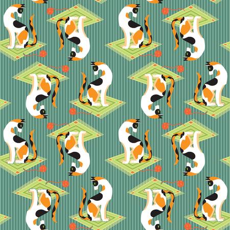 fanny: Pattern cartoon fanny cats. Pattern cartoon fanny cats with toys. Pattern for children