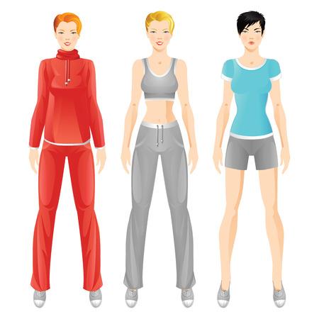 snickers: Set of girl in sport wear