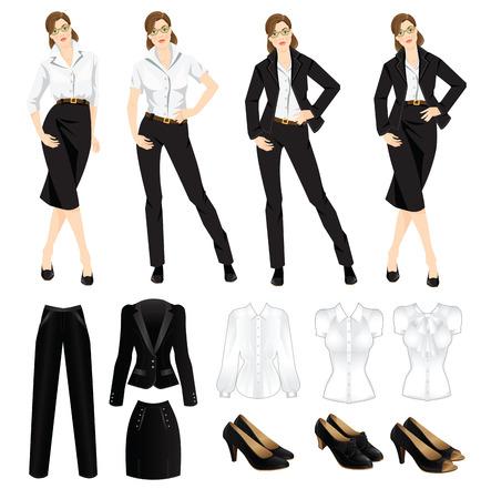 dress code: Vector illustration of corporate dress code.