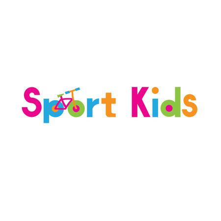 스포츠 브랜드 - 스포츠 키즈의 아이콘 템플릿 디자인