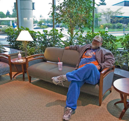 This middle aged male is waiting for a patient in a medical waiting room. Stock Photo - 4905023