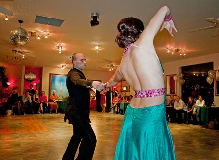 EVERETT, WA - DECEMBER 13: Couple ballroom dancing is found to help relieve stress and bring security and beauty in uncertain times news reports. The Silver Ball event was held on December 13, 2009 in Everett, WA.