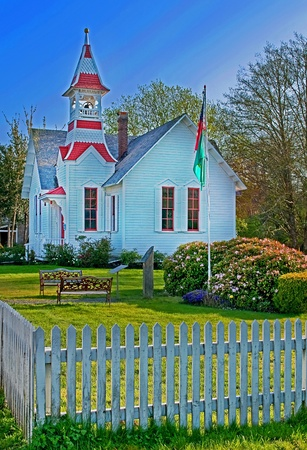 country church: small white country church located in Oysterville, Washington state in Pacific County