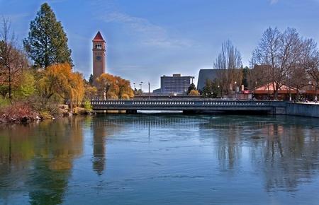 Esta foto de paisaje, de Spokane, Washington Editorial