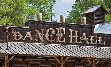 This is an old fashioned wild West type building that is a dance hall