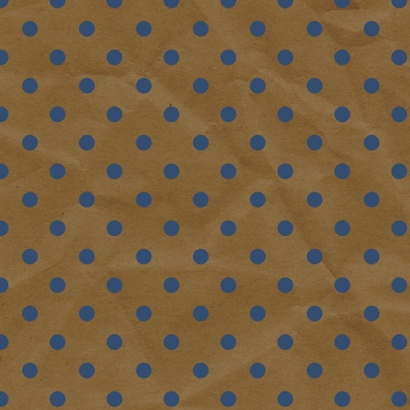 This 12X12 design background is great for projects, scrapbooking, backgrounds and more, is a blue and brown polka dot crumpled paper  photo