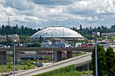 tacoma: TACOMA, WA ? JUNE 14:  The Tacoma Dome is one of the largest wood dome structures in the world, and hosted the 1990 Goodwill Games.  It continues to be a major venue of hosting many events.  Taken June 14, 2011.