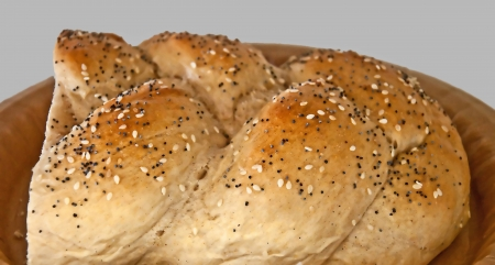 This image is Jewish Challah bread, or a braided bread that is inviting to break into Stock Photo - 16338925
