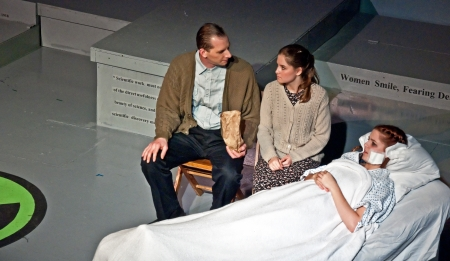 LYNDEN WA - FEBRUARY 16 - Local actors performed Radium Girls live theater, exposing the dangers of radium in factory workers in the 1920?s.  Held on February 16, 2012 in Lynden, WA Editorial