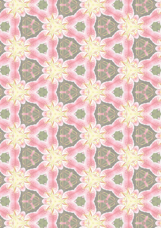 Background pattern in subtle colors of pink, rose, yellow and sage green. Banco de Imagens