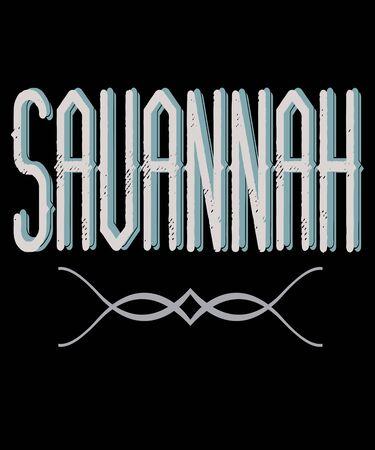 Savannah trendy typography graphic design illustration. 写真素材