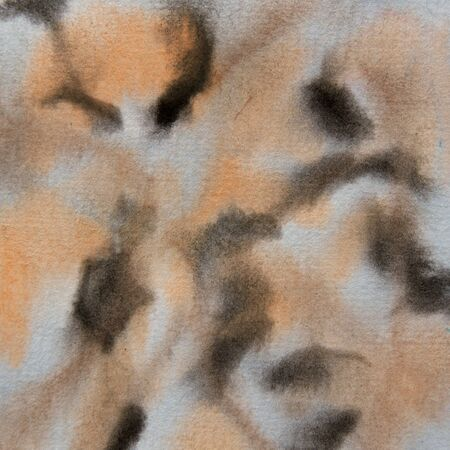 Abstract watercolor black and tan background pattern in ususal colors.  12x12 graphic design element. 写真素材
