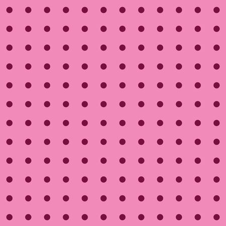 Pink polka dots on pink background in 12x12 digital paper for graphic design and page elements.  Smaller shaped dots or circles in rows in magenta darker pink on this seamless pattern of geometric shapes.