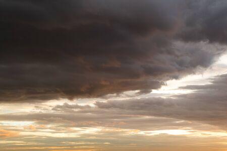 dark twilight sunset sky for background