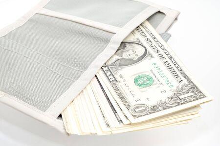 dollar money banknote in pocket
