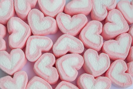 Heart shape marshmallow background