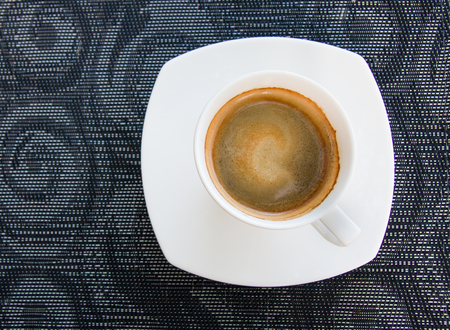 Top view shot of espresso coffee cup on the table Imagens - 79399841