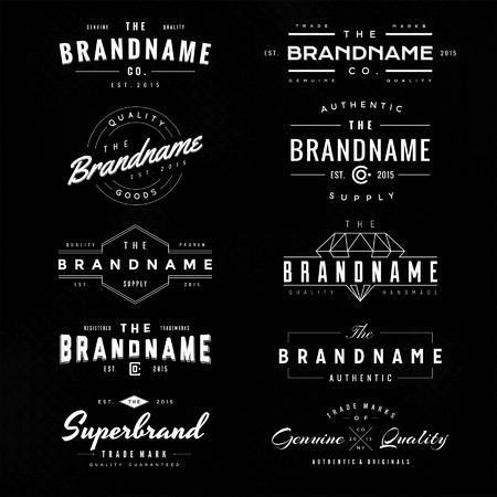 vendange: logo vintage & insignes 1 Illustration