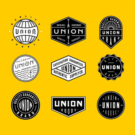 voyager: Collection of vintage logos & badges. perfect for bussines branding, clothing or apparel design, sign and others.