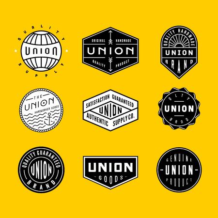 Inzameling van uitstekende logos en badges. perfect voor bussines branding, kleding of kleding ontwerpen, te ondertekenen en anderen.