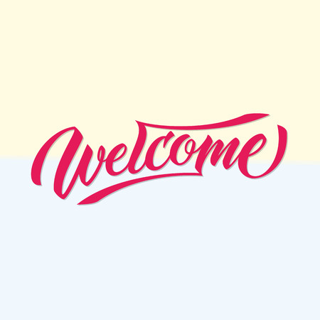 visitors: Vintage handmade lettering for greeting or welcoming the visitor. perfect for branding, greeting card, banner design, website and many more.