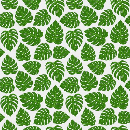 Monstera Leaves Repetitive Pattern, design for fabric, print design or any decorative purpose.