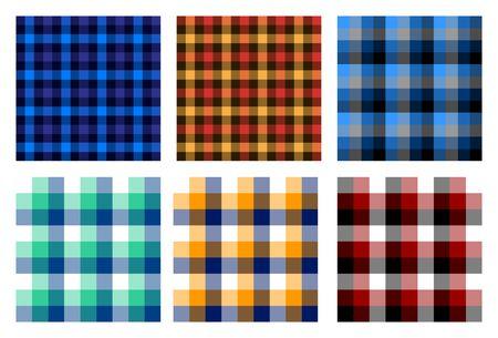 seamless checkered plaid pattern bundle.