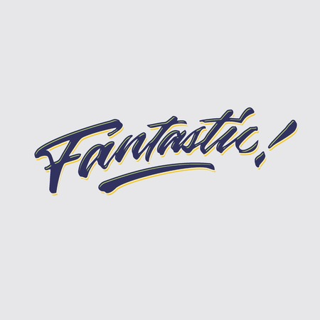 fantastic hand lettering typography compliment words poster Vector illustration.