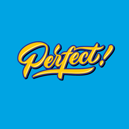 perfect hand lettering typography compliment words poster