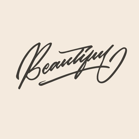 Beautiful hand lettering typography