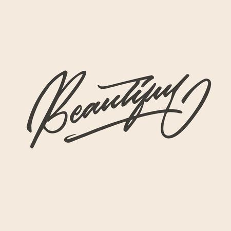 Mooie hand belettering typografie Stock Illustratie