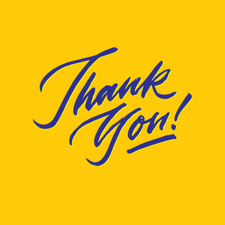 thank you roughen script hand lettering typography card poster
