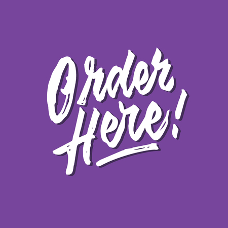 Order here rough brushed hand lettering typography sales and marketing shop store signage poster