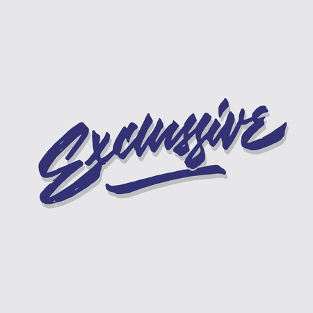 exclussive hand lettering typography sales and marketing shop store signage poster Çizim
