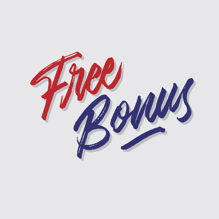 free bonus hand lettering typography sales and marketing shop store signage poster