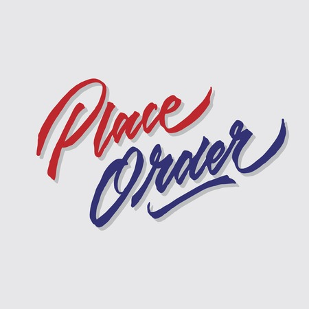 place order hand lettering typography sales and marketing shop store signage poster