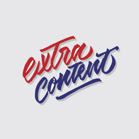 extra content hand lettering typography sales and marketing shop store signage poster Ilustração