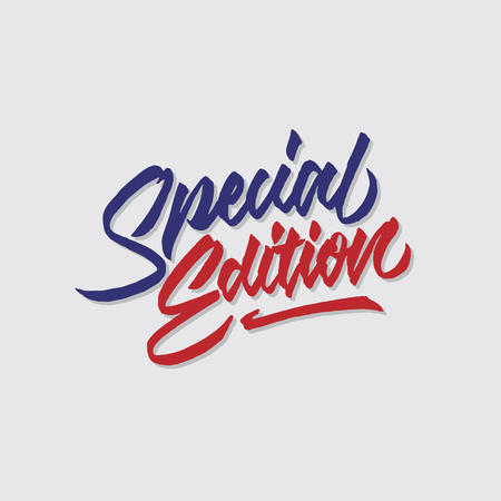 special edition hand lettering typography sales and marketing shop store signage poster Çizim