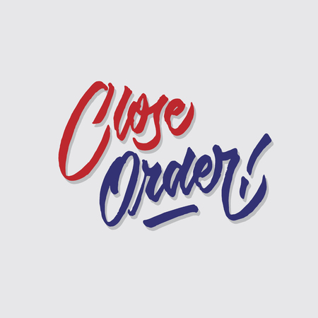 close order hand lettering typography sales and marketing shop store signage poster Çizim