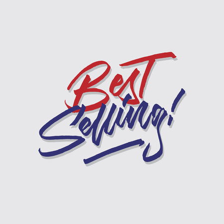 best selling hand lettering typography sales and marketing shop store signage poster