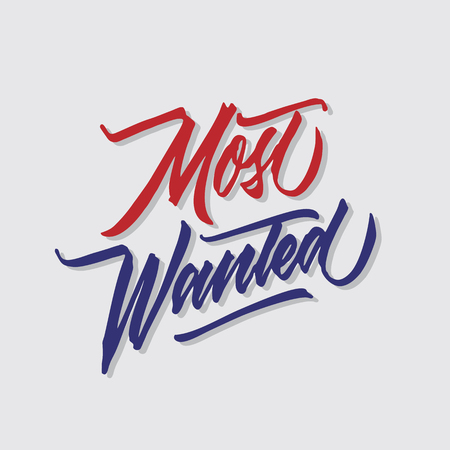most wanted hand lettering typography sales and marketing shop store signage poster