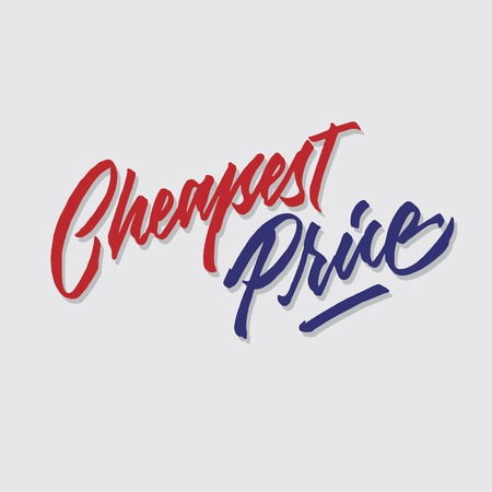 cheapest price hand lettering typography sales and marketing shop store signage poster Çizim