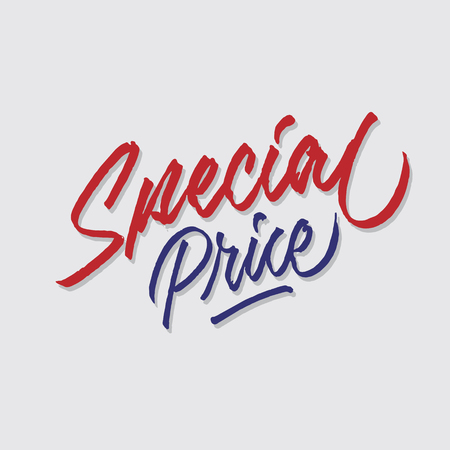 special price hand lettering typography sales and marketing shop store signage poster