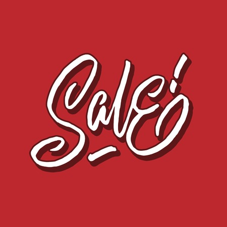 sale hand lettering typography sales and marketing shop store signage poster