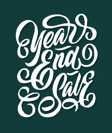 year end sale hand lettering typography sales and marketing shop store signage poster