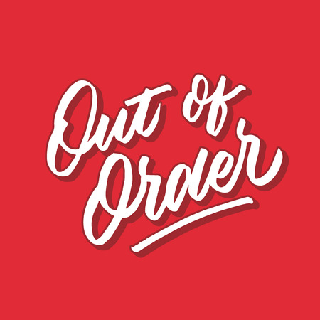 out of order hand lettering typography poster