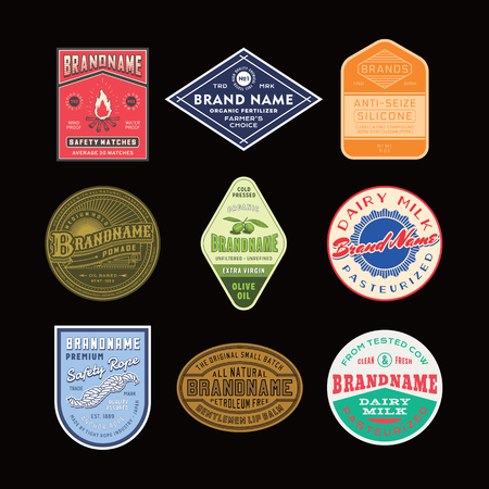 Vintage logo and label design set