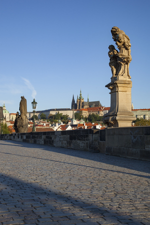 Bridge landscape of Prague